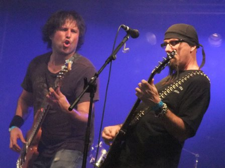 Richi Day and Tony Portaro with Whiplash in Wacken