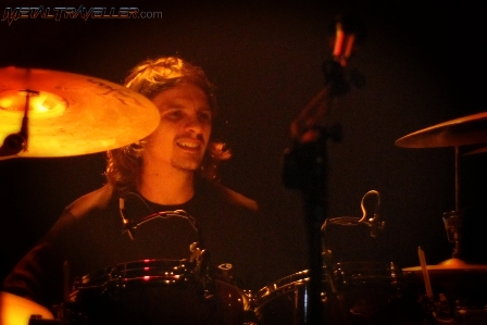 Patrick Johansson on drums with Yngwie Malmsteen at Teatro Ecci El Dorado in Bogotá