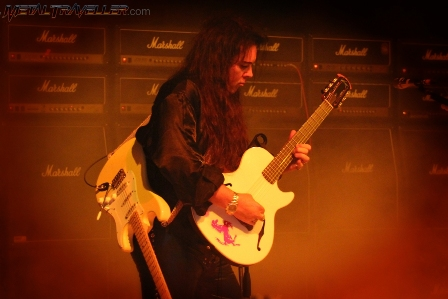 Yngwie Malmsteen playing his Ovation acoustic guitar