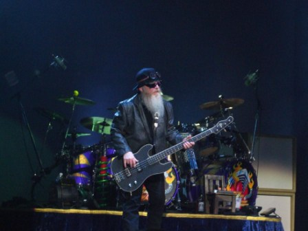 Dusty Hill from ZZ Top Live in Paris, July 10 2008